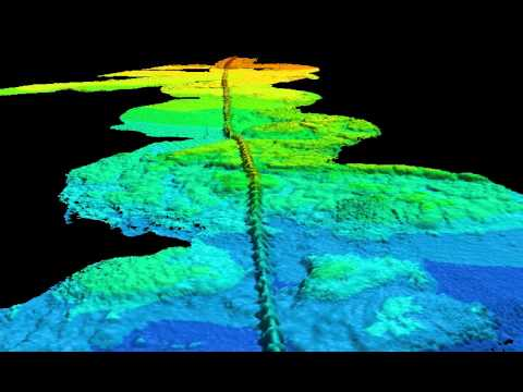 underwater pipe survey by multibeam