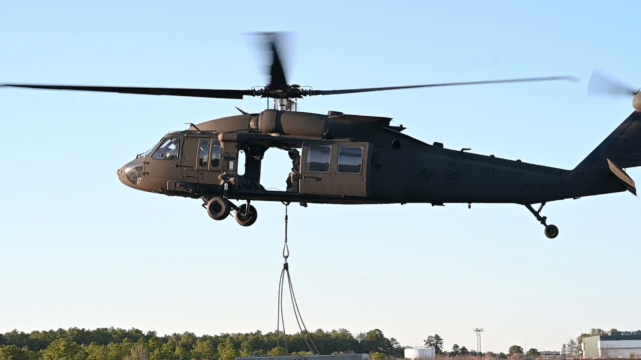 US Military News • New Jersey Army National Guard • Sling Load Training • N.J., Mar 29 2021