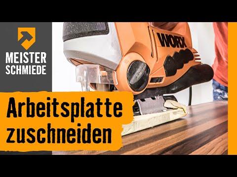 Arbeitsplatte Zuschneiden Hornbach Meisterschmiede Youtube