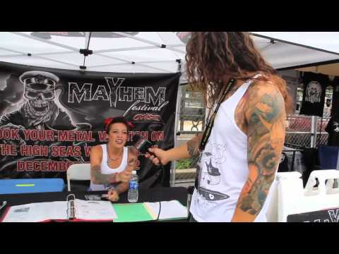 MAYHEM FEST Backstage Walthrough with Nick from AS I LAY DYING on Metal Injection