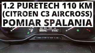 Citroen C3 Aircross 1.2 PureTech 110 KM (AT) - pomiar zużycia paliwa