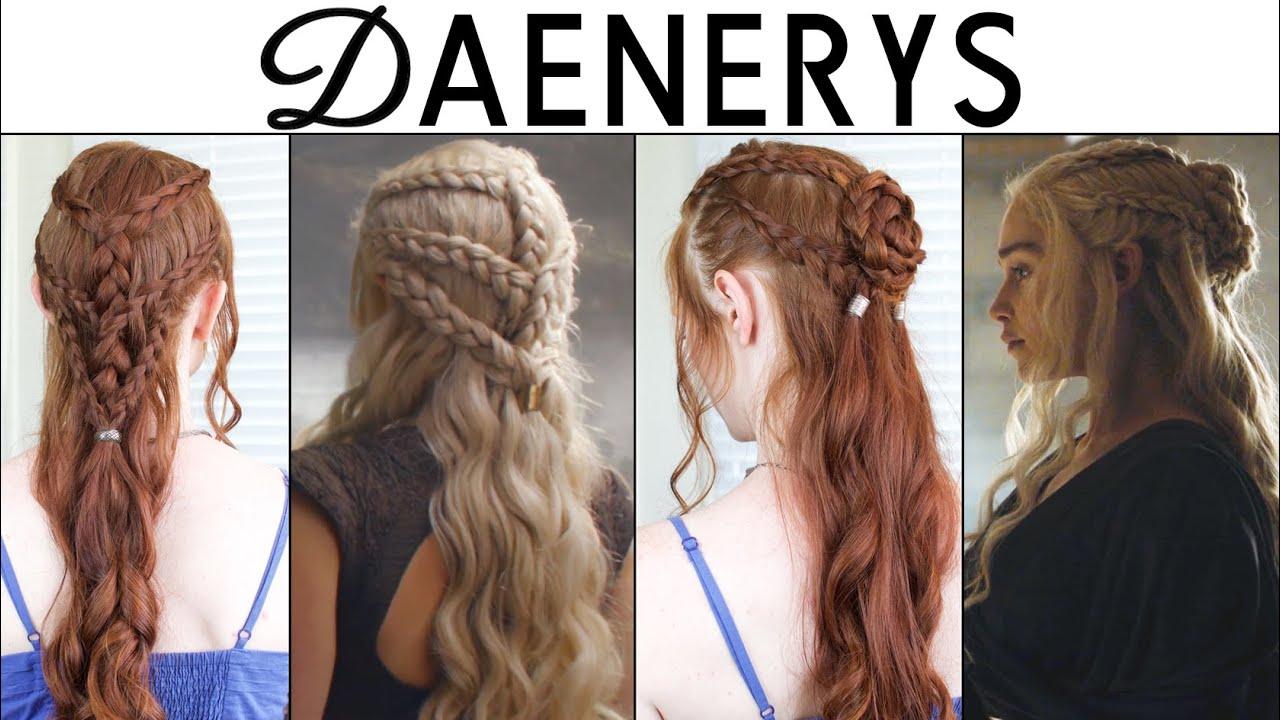 game of thrones season 6 hair tutorial - daenerys targaryen