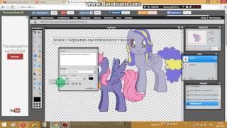 как сделать пони с светящимися глазами? (от круин брони) читать описание!