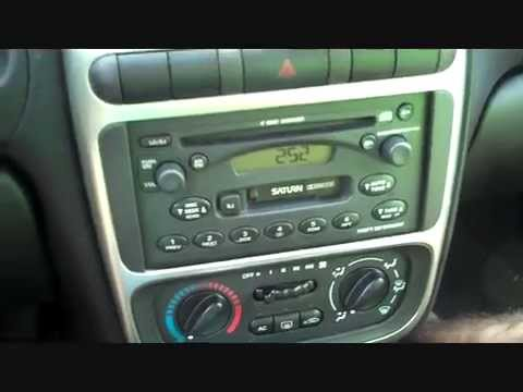 saturn l series car radio removal 2000 20004