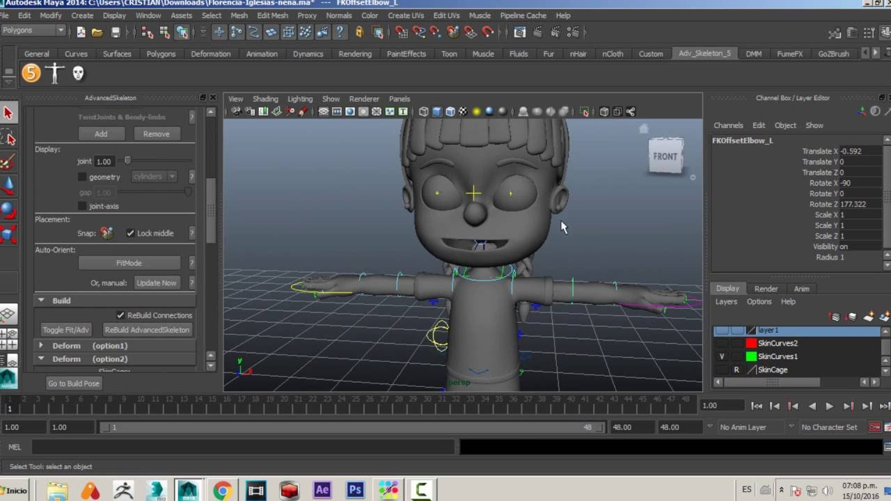 Complementing Advanced Skeleton with Maya rigging