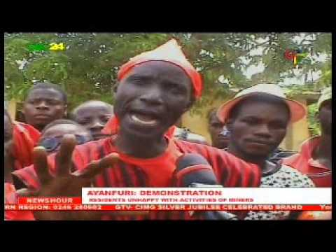 Ayanfuri residents unhappy with activities of miners