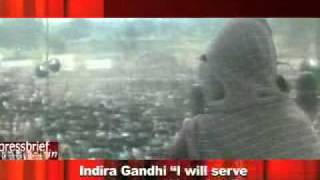 "Indira Gandhi ""I will serve my country till my last"""