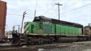 CSX and NS railfanning Muncie Indiana CSX 8320 SD40-2 CSX 8545 SD50