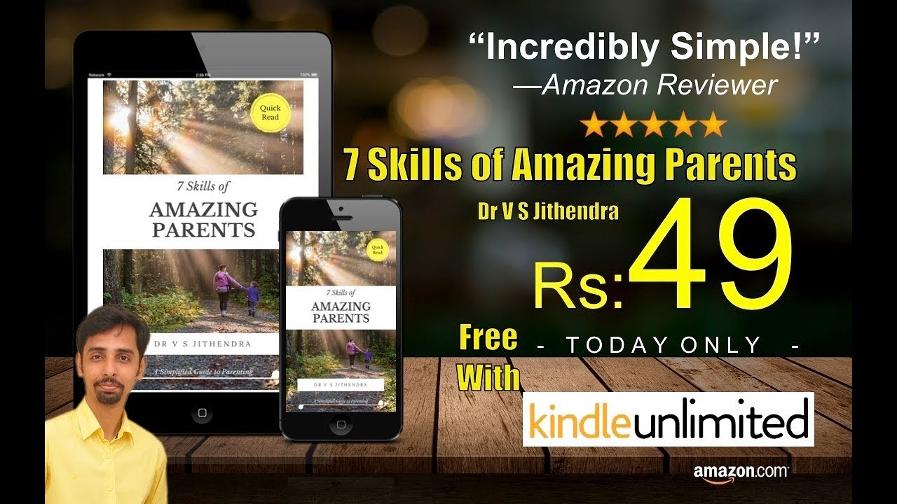 My First Book Release | 7 Skills of Amazing Parents | Dr V S Jithendra