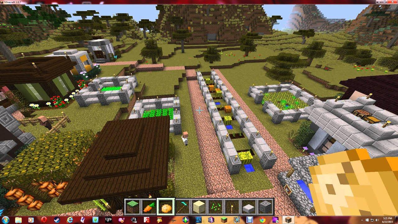 Minecraft: Metropolis Village - Episode 14, Gardens - YouTube