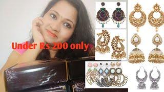 #onlineshopping #Jewelleryhaul Party wear earrings| Under Rs 200| Amazon haul| Geeta's Corner