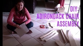 Diy: How To Assemble An Adirondack Chair