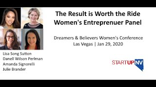Women's Entrepreneur Panel  | The Result is Worth the Ride | Lisa Song Sutton