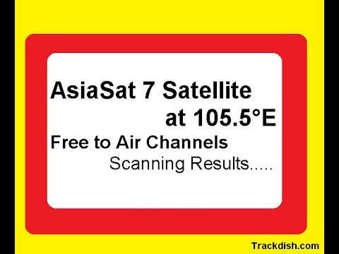 105 5°E AsiaSat 7 - Indian FTA Channels - Track Dish