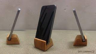 Cherry Wood Smartphone Holder DIY