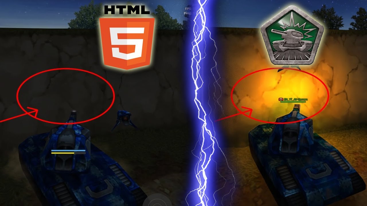 Html5 Vs Flash Graphics Tanki Online Html5 Client Tanki Onlajn Html5 Vs Flash Av Gamers Youtube