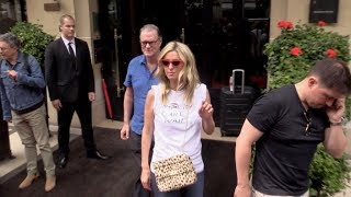 EXCLUSIVE : Nicky Hilton coming out of her hotel in Paris