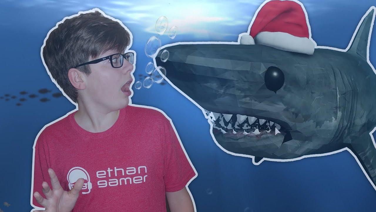 Ethangamertv Roblox Flood Escape 2 It S Santa Jaws Youtube