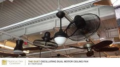 The Duet Oscillating Dual Motor Ceiling Fan by TroposAir
