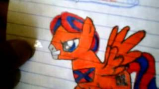 Dukes of hazzard general lee pony drawing.