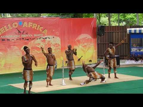 Acrobatic Kenya Show, Dusit Zoo, Bangkok. 11.06.2017