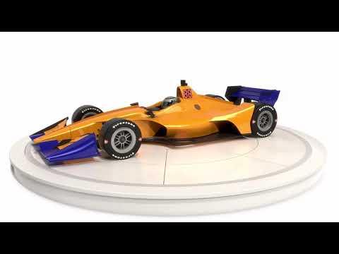 IndyCar Season 2019 Road Course Race Car 3D model