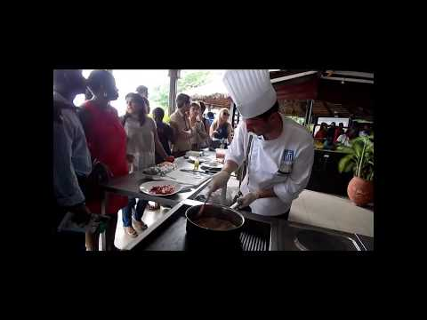 Great Chef Nikolaos Koulousias  Demonstration in Accra Foodfestival