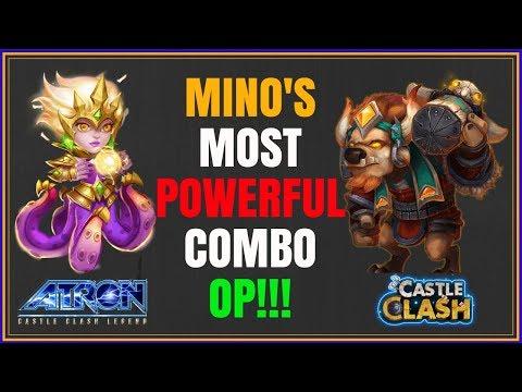 CIRRINA & MINO GUILD WAR COMBO IS OP - MINO BOMBING WITH CIRRINA - CASTLE CLASH