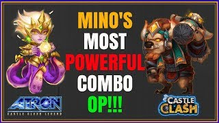 CIRRINA & MINO GUILD WAR COMBO IS OP - MINO BOMBING WITH CIRRINA - CASTLE CLASH