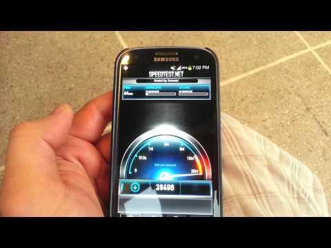 Insane Crazy Fast 4G LTE Speeds Samsung Galaxy S 3 AT&T Network