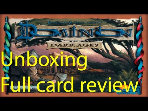 Dominion Dark Ages Expansion Unboxing + all cards reveiw!