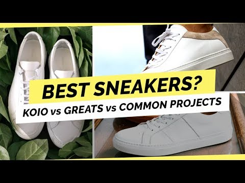 the best attitude 39d77 6248a Common Projects vs Koio vs Greats - Which is Best? - YouTube