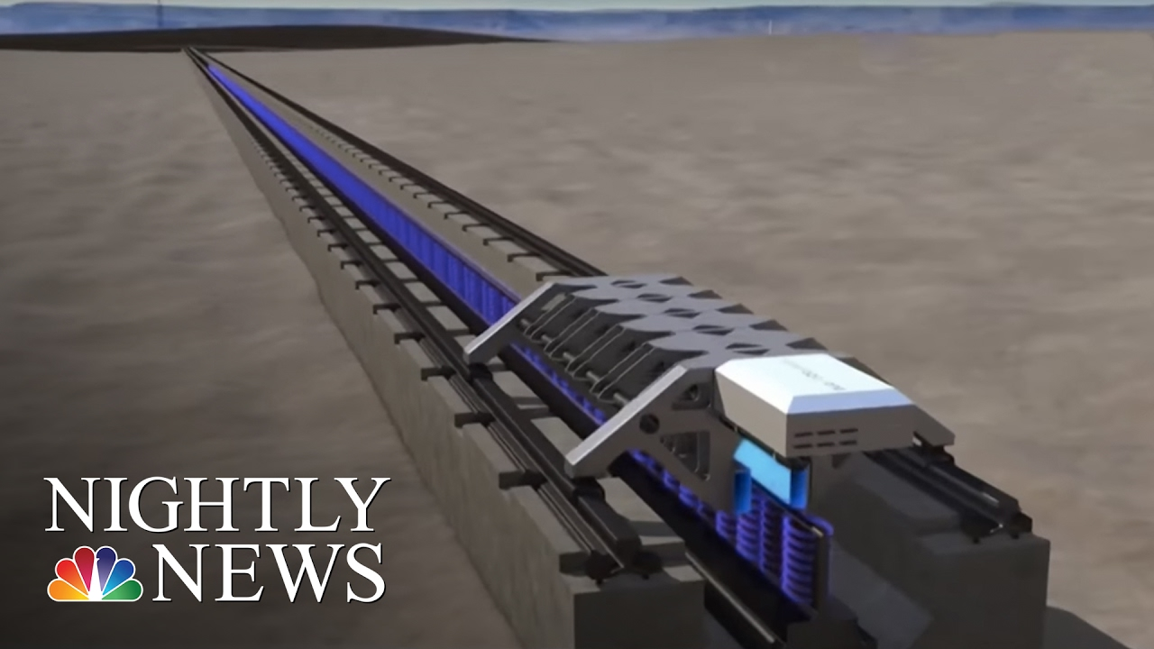 Elon Musk S Hyperloop One Successfully Tests Propulsion System Nbc Nightly News Youtube