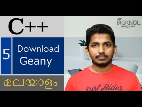 05  Download Geany   C++ Malayalam Tutorial