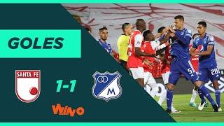 Santa Fe vs Millonarios (1-1) Liga BetPlay Dimayor 2020 | Fecha 10
