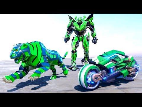 Lion Robot Transform Bike: Moto Robot Games  - Android Gameplay (Full HDR)