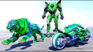 Lion Robot Transform Bike: Moto Robot Games  - Android Gameplay (Full HDR) screenshot 3