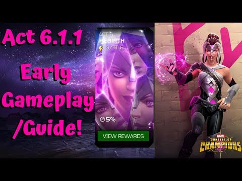 Act 6.1 Early Gameplay/Guide! Quest 1! - Marvel Contest of Champions