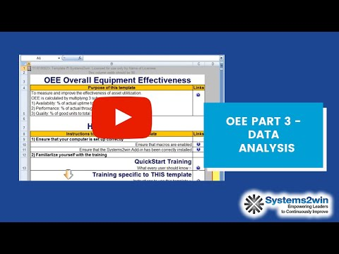 Oee Part 3 Data Analysis Youtube