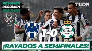 Resumen   Rayados 1 - 0 Santos   Copa Mx - Cuartos De Final 2020   Tudn