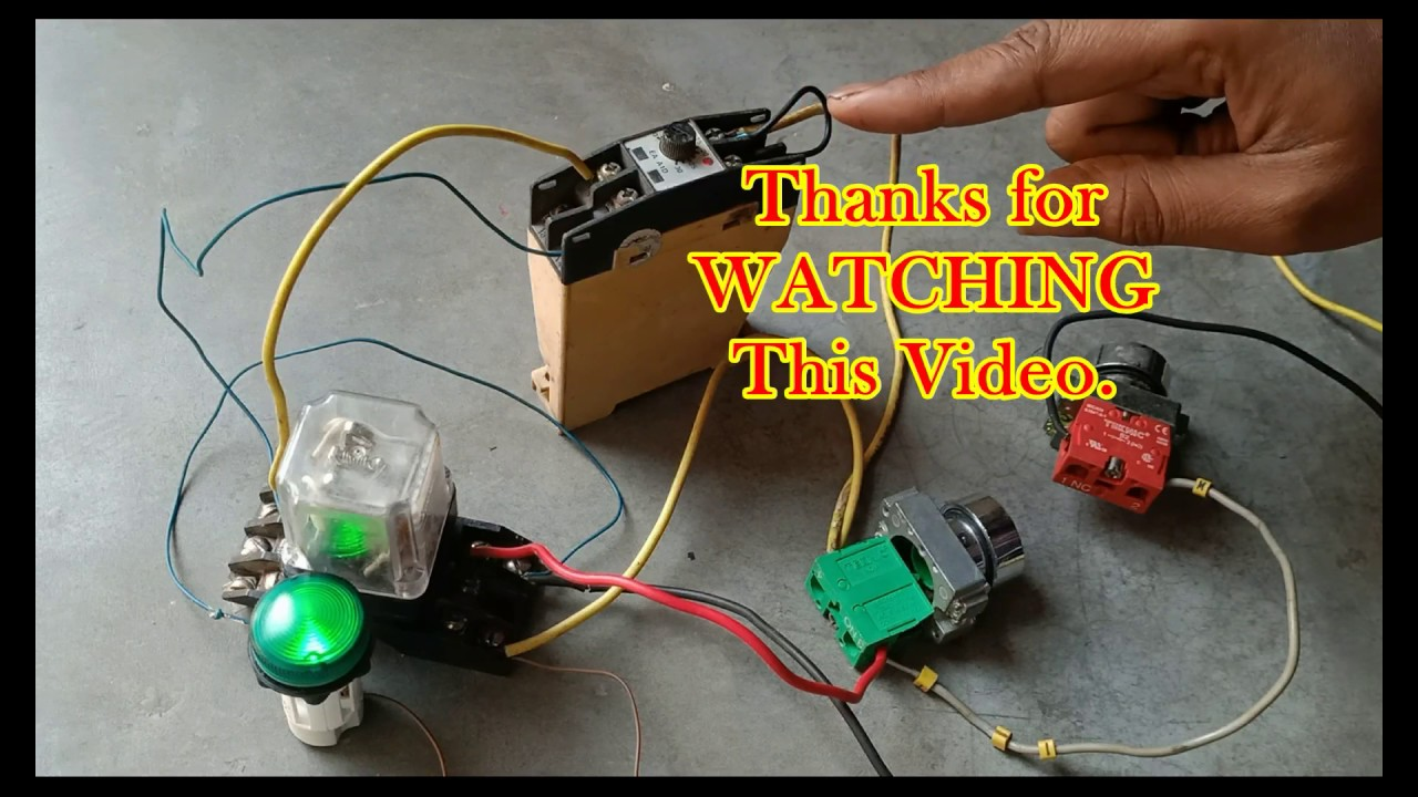 Relay With Timer Control Wiring Diagram