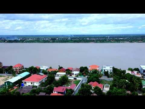 Mekong River View Along Phnom Penh City At the Northern Side, Cambodia