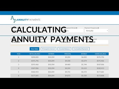 Calculating Annuity Payments For An Annuity