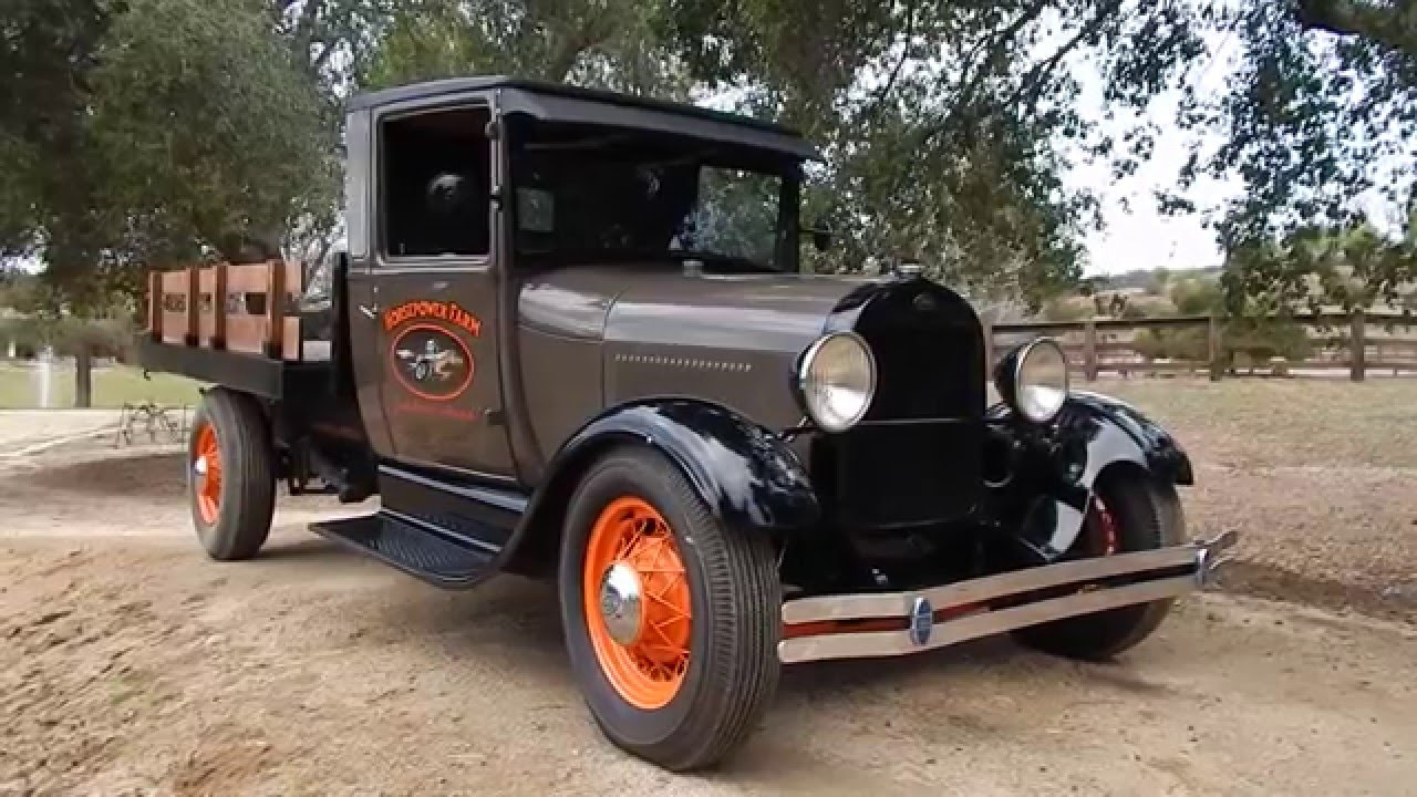 1928 Ford Model A Stake Bed Pick Up Youtube