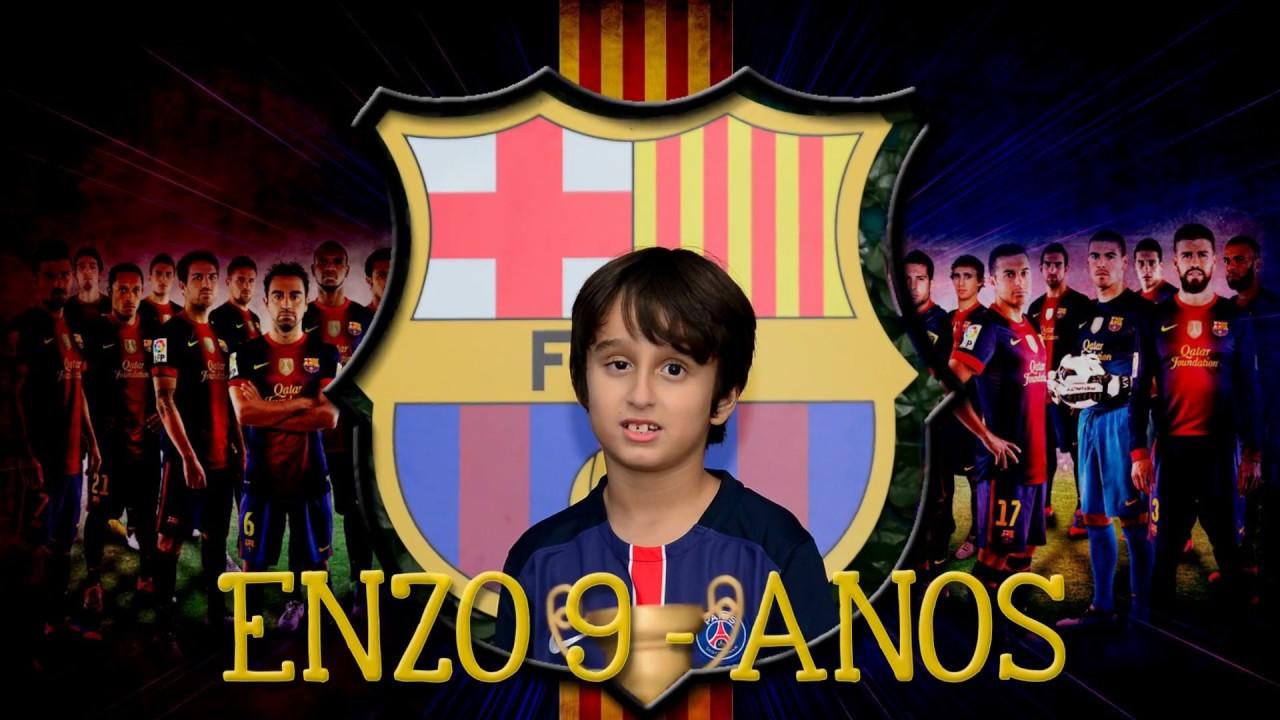 Barcelona Futebol Clube Convite Enzo Por Raquel Mendes Youtube