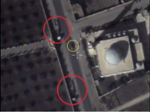 Rus insansız hava araçları IŞİD araçlarını böyle görüntüledi
