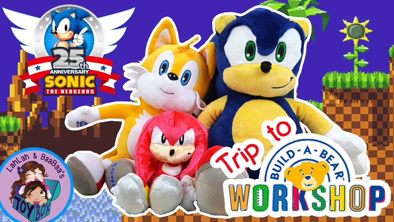 b74652a4f60 Let s Build Sonic the Hedgehog! ~ Trip to Build-A-Bear Workshop! Stuffed  animal Tails too!