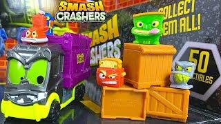 UNBOXING SMASH CRASHERS WILLY WASTE SLOPPY SAM & MORE CRASH SURPRISES