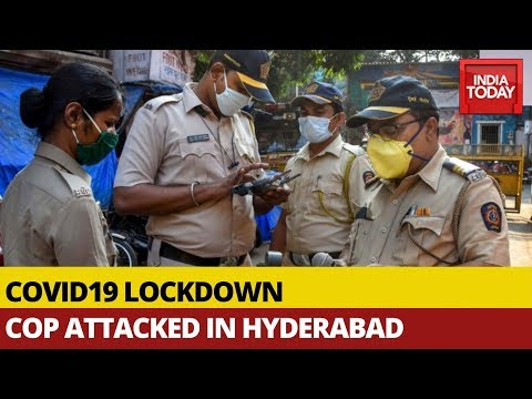 Covid19 Lockdown: Woman & Son Attack Cop In Hyderabad After Being Stopped | Watch Visuals