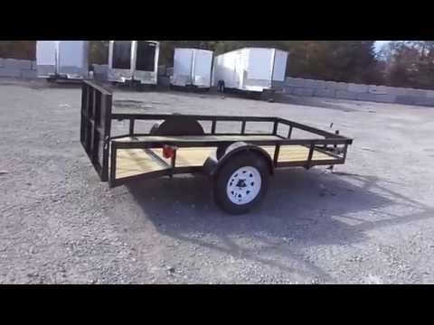 5x10 Utility Trailer - Single Axle Dove Tail With Gate
